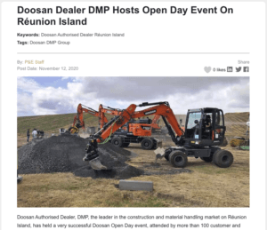 Steelwrist DMP Réunion Island tiltrotator