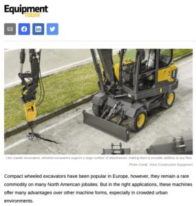 wheeled excavator Steelwrist