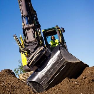 Excavator steelwrist sektion
