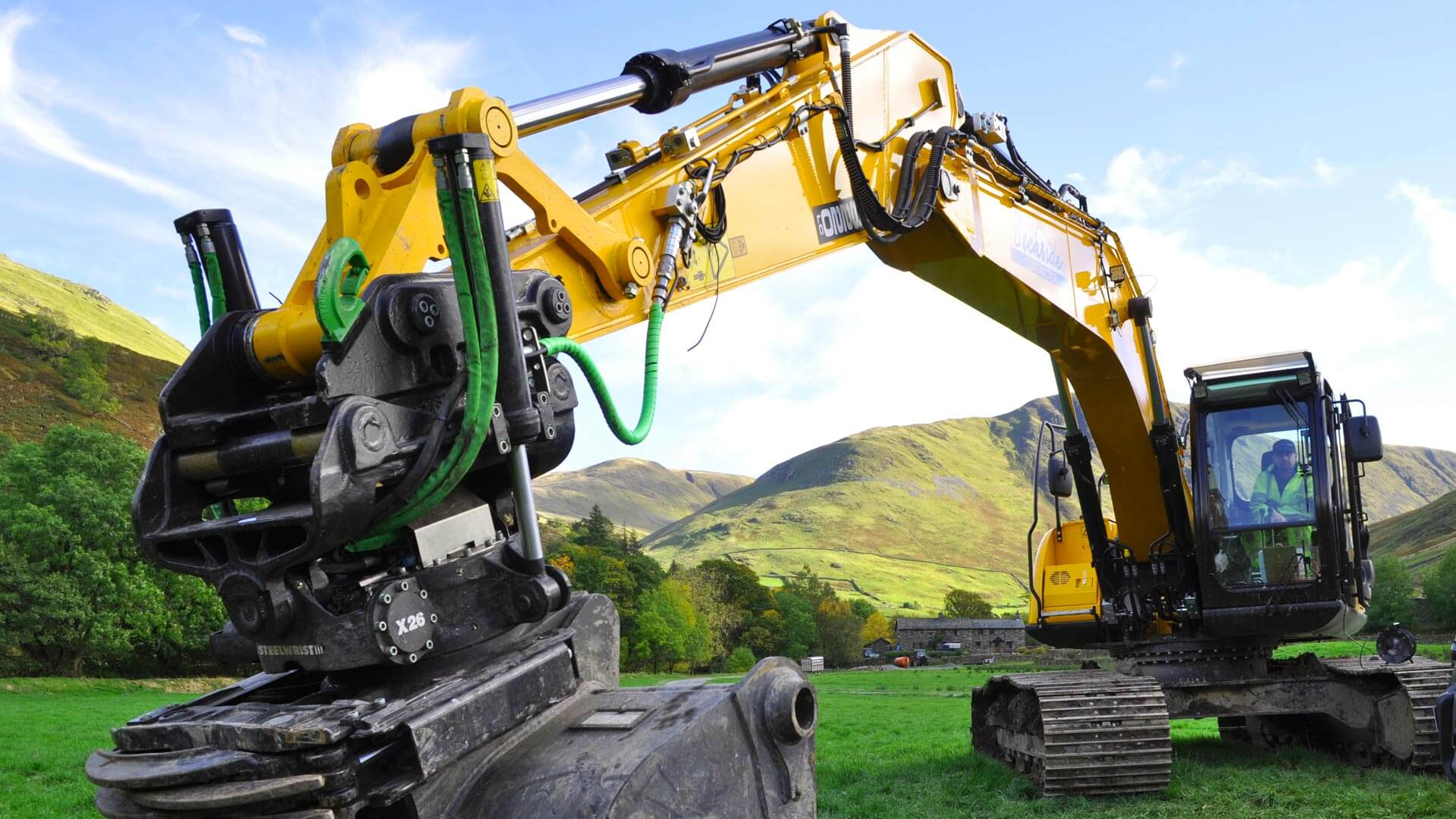 JCB X26 Background