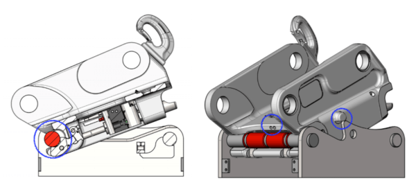 Non conforming front pin