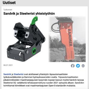 Rammer Sandvik Steelwrist