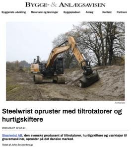Steelwrist Danmark tiltrotator