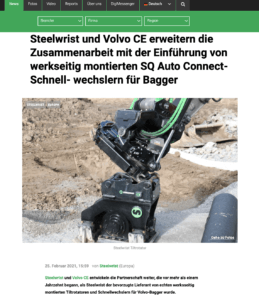 Steelwrist Schnellwechsler SQ Volvo CE
