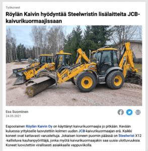 Steelwrist X12 -kallistuva kauhanpyörittäjä