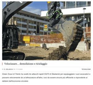 Steelwrist demolizione attacchi