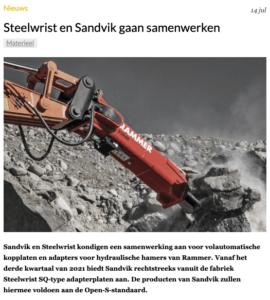 Steelwrist en Sandvik