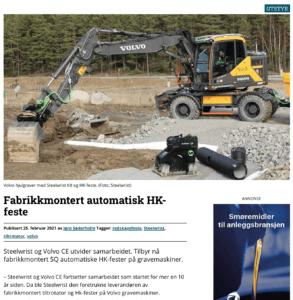 Steelwrist hk-feste Volvo CE