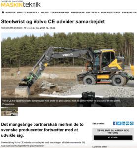 Steelwrist Hurtigskifter SQ Volvo CE
