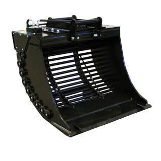 Steelwrist-screeningbucket sorteringsskopa transp