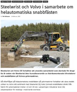 Steelwrist snabbfästen SQ Volvo CE