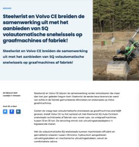 Steelwrist snelwissel SQ Volvo CE