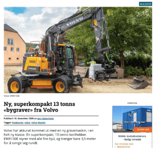 Volvo EWR130E Steelwrist